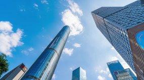 4K广西南宁五象新区总部基地城市高楼大厦视频素材
