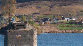 河口鸭绿江断桥视频素材