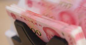 4K点钞机数钱钞票人民币视频素材