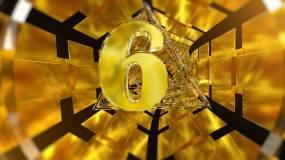 金色科技10秒倒计时视频素材