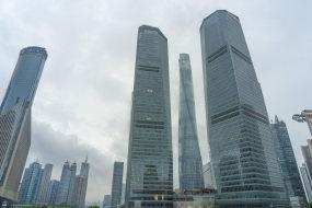 雨中的上海陆家嘴视频素材
