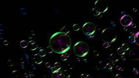 【4K】肥皂泡冒出来(alpha通道)视频素材