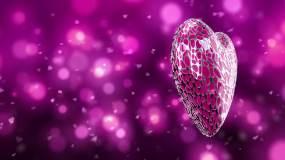 唯美心形爱情主题背景视频素材