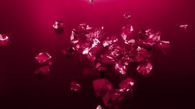 红色钻石掉落视频素材