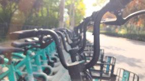 城市共享单车4k视频素材