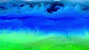 粒子彩色山水水墨流动油墨视频素材