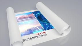 4K图纸卷轴企业历程-AE模板AE模板