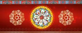 八宝图藏族Lde舞台背景视频素材