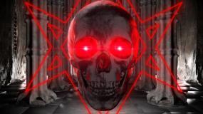 暗黑骷髅一个视频素材