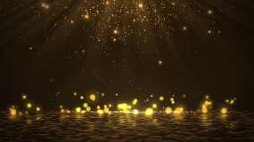 4K金色粒子光线视频素材