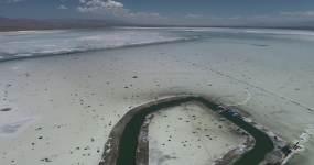 茶卡盐湖4k航拍超清原素材视频素材
