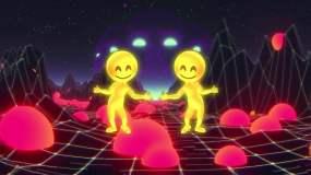 小黄人跳舞抬棺视频素材