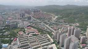 4k西宁城市大景航拍一视频素材