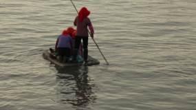 大嶝岛风光海岸线太阳照海面渔村视频素材