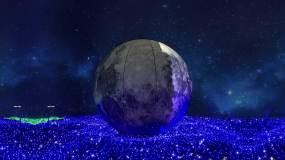 LED月亮视频素材