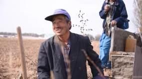 农民幸福笑容视频素材
