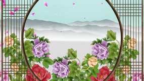京剧百花盛开春满园视频背景视频素材包