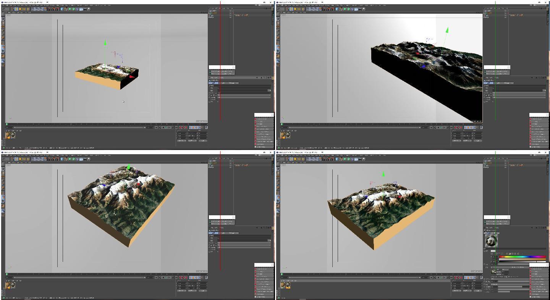 山峰微景观3D模型