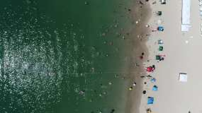 西冲沙滩最美沙滩视频素材