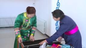 蒙古民族手工艺蒙古刺绣服饰裁剪培训班视频素材包