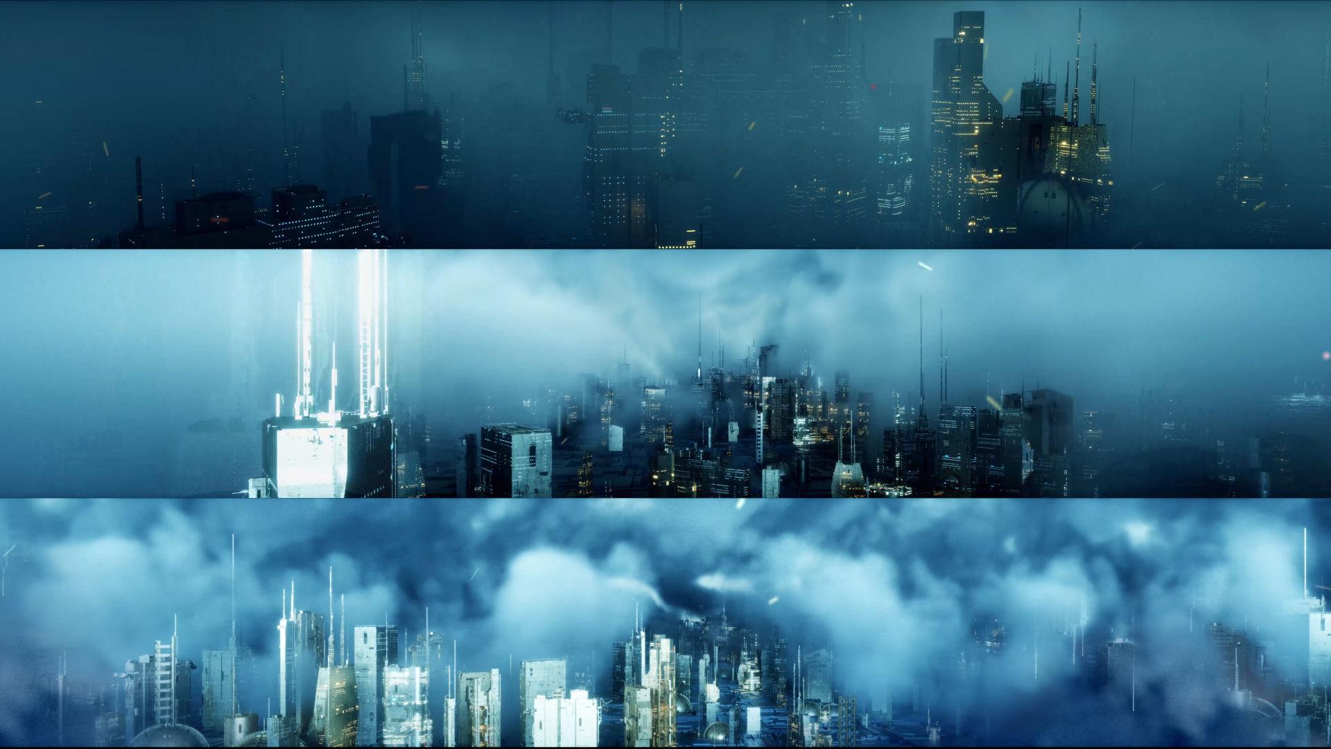 6K超宽屏科技智慧城市动画
