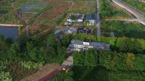 4k航拍深圳龙华观澜河畔湿地公园视频素材包
