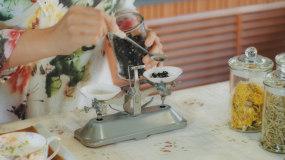 茶艺茶道饮品配方调味视频素材