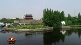 航拍荆州古城城市风光视频素材