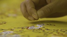 织绣刺绣匠人匠心视频素材