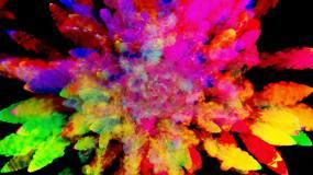 炫彩粉尘爆炸烟花视频素材
