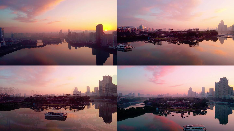 美丽厦门,天空之境,筼筜湖日出风光