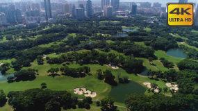 航拍深圳福田特发高尔夫球场4K视频素材