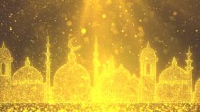 阿拉伯异域风情大屏背景3视频素材