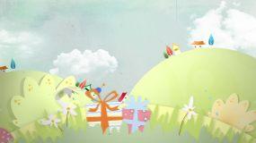 卡通儿童动画背景1视频素材