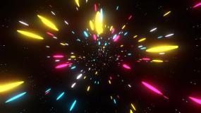 灯光感动VJ冲屏穿梭背景视频素材
