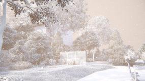 冬季树林冬天雪景4K视频素材