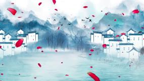 古色古香江南水乡水墨古典LED背景视频视频素材
