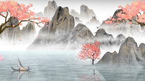 水墨中国风山水意境人间仙境led背景视频视频素材
