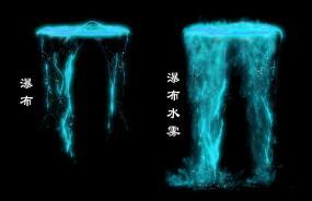 高清梦幻瀑布水帘水雾-2视频素材包
