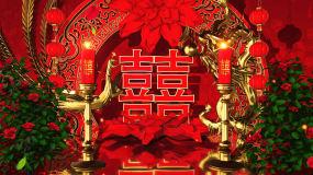 4K三维中国风婚礼背景素材视频素材