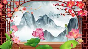 中国风没话说屏风江南风情旗袍秀LED视频视频素材
