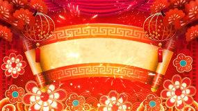 中国风灯笼古典戏台花纹LED舞台背景视频视频素材