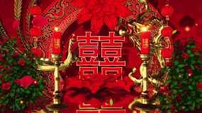 4K三维中国风婚礼背景AE模板AE模板