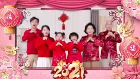 2021年牛年春节晚会拜年祝福视频框16视频素材包