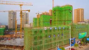 航拍建筑施工视频素材