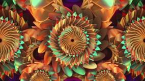 金色花朵舞台背景01视频素材