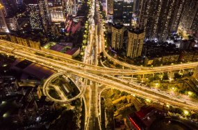 广州立交高架交通延时5.5k-01视频素材
