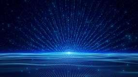 4K蓝色晚会光效粒子循环视频素材