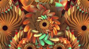 金色花朵舞台背景02视频素材