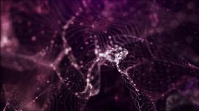 紫色飘荡粒子视频素材